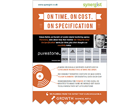 Purestone case study infographic