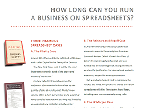 How long can you run a business on spreadsheets?