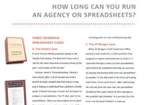 How long can you run an agency on spreadsheets?