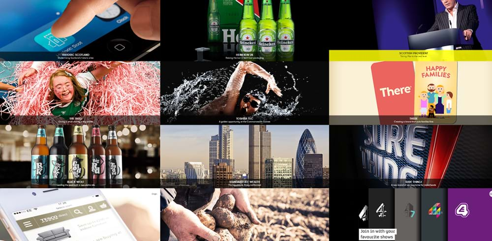 Client work by Tayburn, including Heineken and Tesco