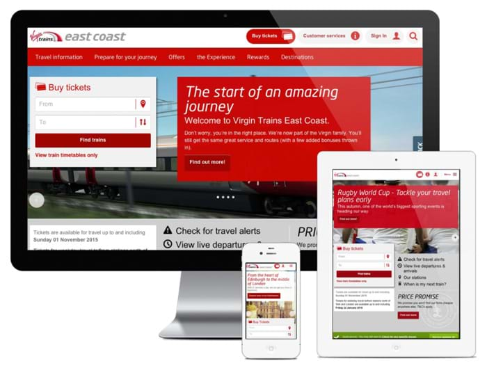 Client work by Amaze for Virgin Trains