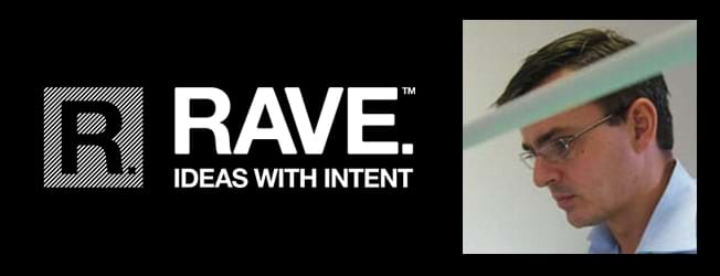 Rave logo with John Wilford