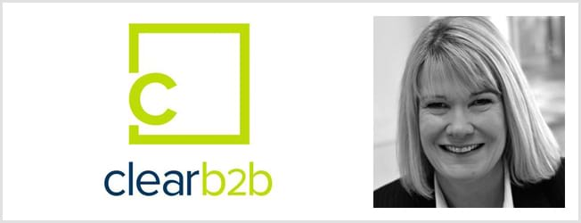 ClearB2B logo and Julie Clare