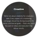 The Marketing Practice positioning on creative