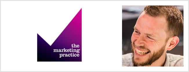 The Marketing Practice logo and David Van Schaik