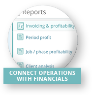 Connect operations with financials
