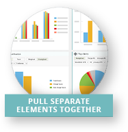 Pull separate elements together